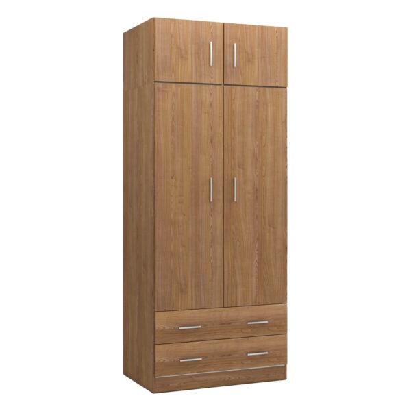 Armario 2 puertas con altillo Plus cerezo