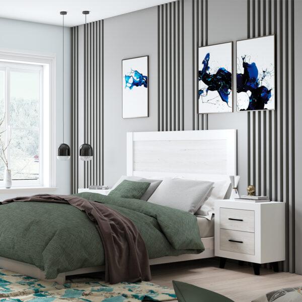 Dormitorio de matrimonio New Promo 07 cabecero y 2 mesitas