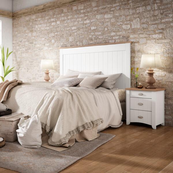 Dormitorio matrimonio Wind 1 cabecero y mesita