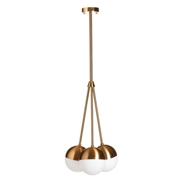 Lámpara de techo oro blanco, 33x33x105,5 cm