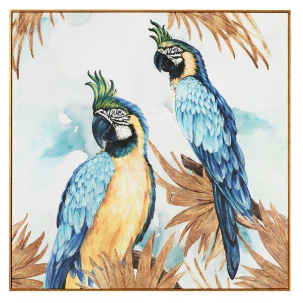 Cuadro impresión papagayo multicolor, 114x4,2x114 cm