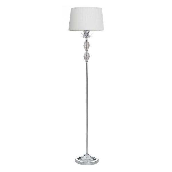 Lámpara de pie crema-plata, 36x36x160 cm