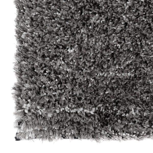 Alfombra gris poliéster, 200x140 cm