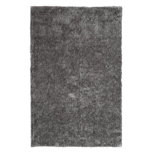Alfombra gris poliéster, 240x140 cm