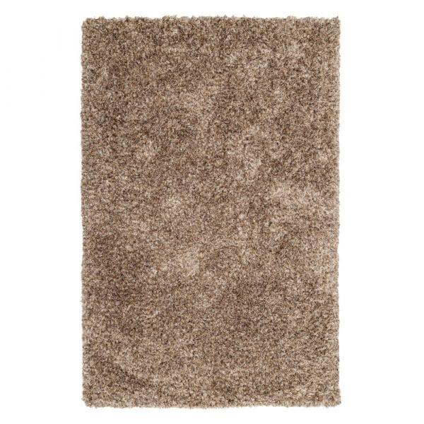 Alfombra marrón poliéster, 200x140 cm