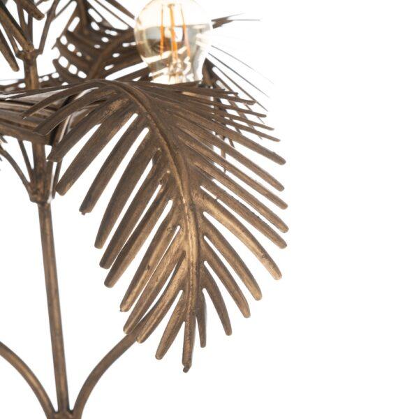 Lámpara de mesa palmera oro viejo, 44x44x67,5 cm