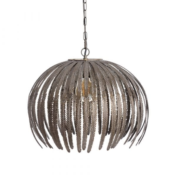 Lámpara de techo oro envejecido metal, 49x49x38 cm