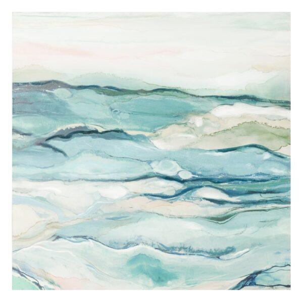 Cuadro impresión mar lienzo, 120x3,8x120 cm