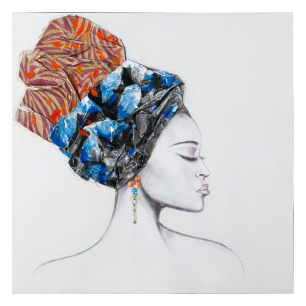 Pintura africana lienzo decoración, 100x2,8x100 cm
