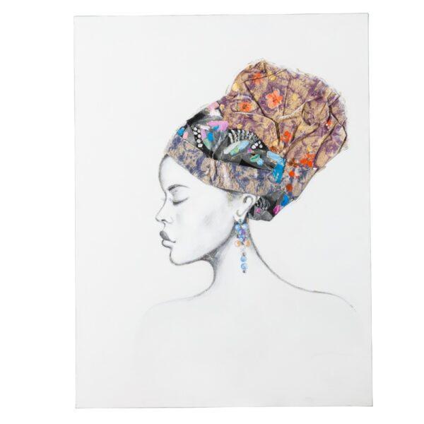 Pintura africana lienzo decoración, 90x2,8x120 cm