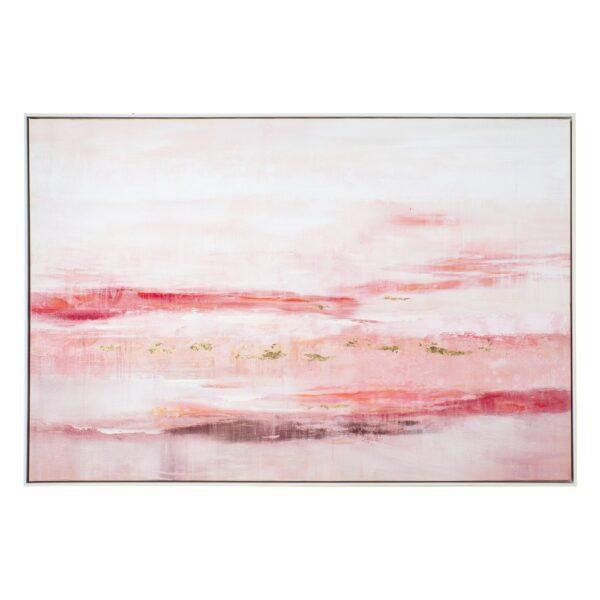 Cuadro impresión rosa lienzo, 120x4,5x80 cm