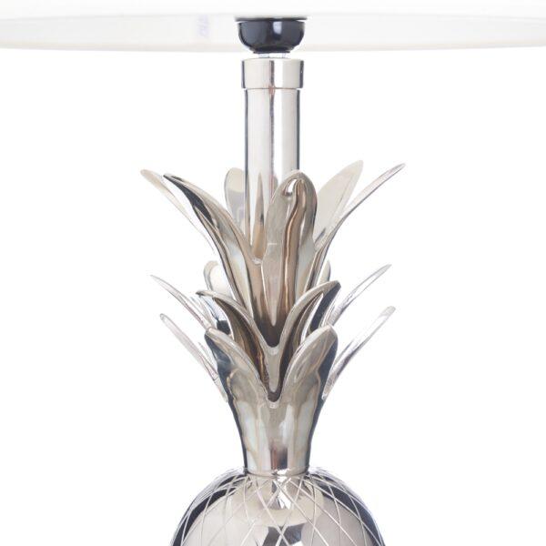 Lámpara de mesa plata-níquel, 30x30x50 cm