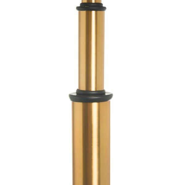 Lámpara de mesa borlas negro-oro, 29x29x70 cm