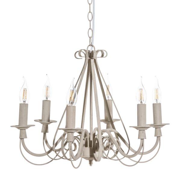 Lámpara de techo gris metal clásico, 54x54x40 cm