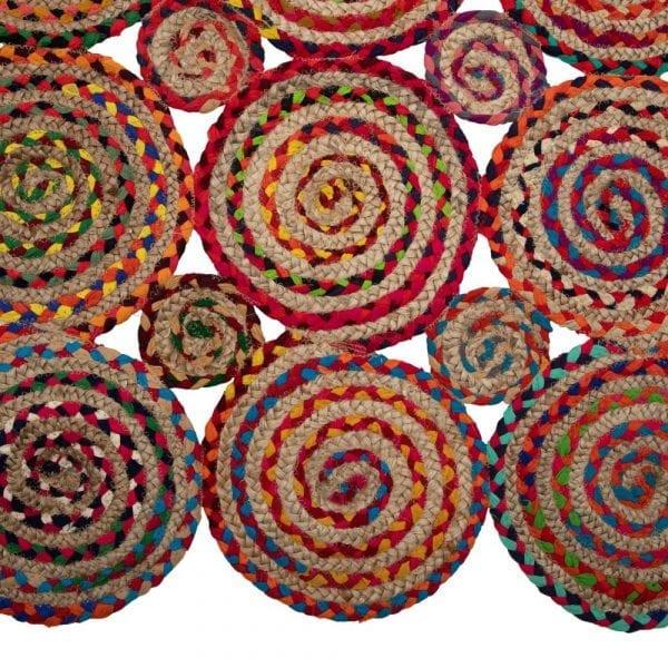 Alfombra multicolor yute, 230x160 cm
