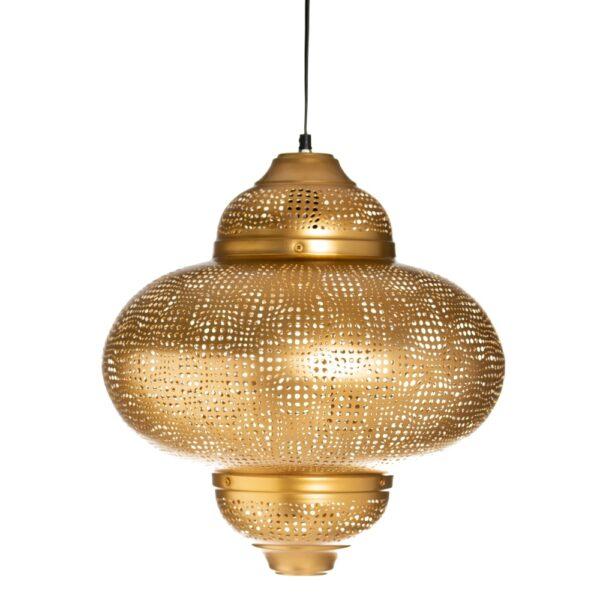 Lámpara de techo oro hierro, 40x40x45 cm