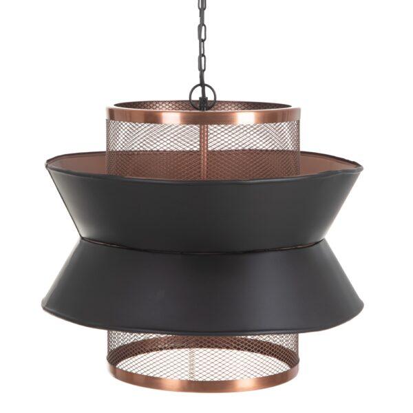 Lámpara de techo negro-cobre, 45x45x43 cm