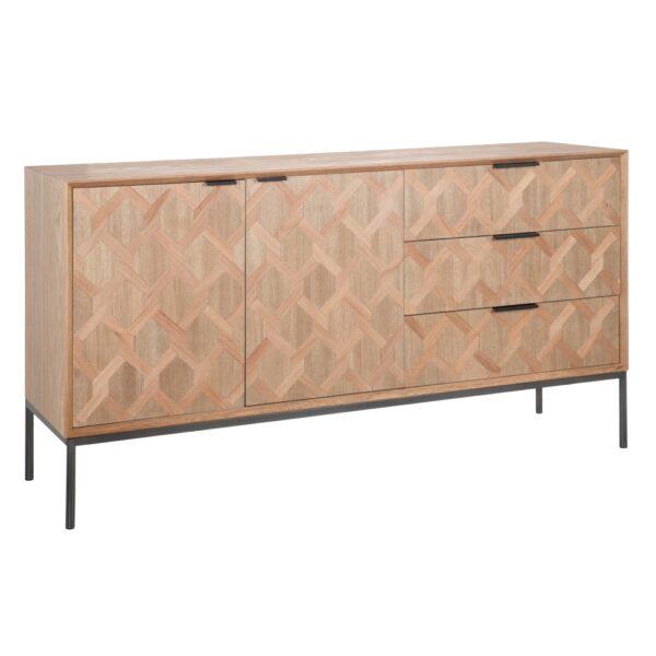 Aparador madera-metal Maxine, 144x40x79 cm