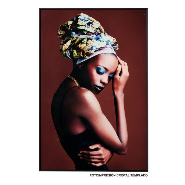 Cuadro impresión africana, 80x3,5x120 cm