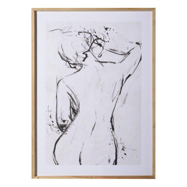 Cuadro impresión desnudo, 110x5x157 cm