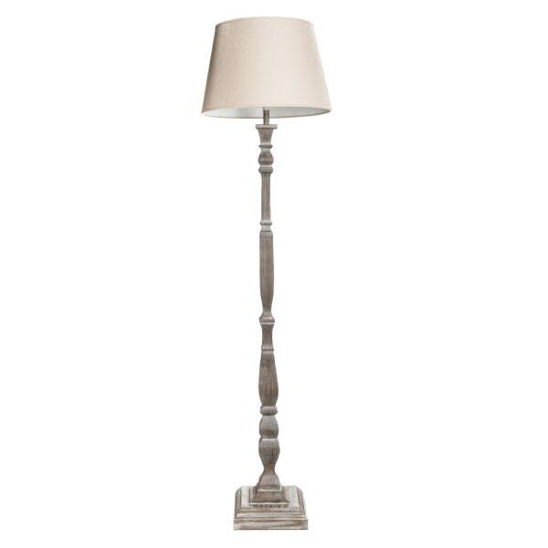 Lámpara de pie gris DM-tejido, 34x45x164 cm
