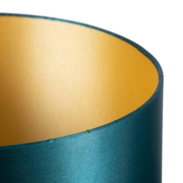 Lámpara de mesa elefantes oro-verde, 33x33x74 cm