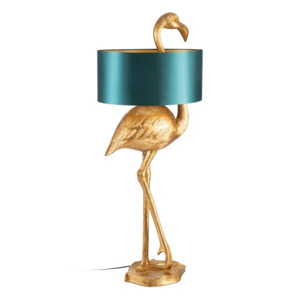 Lámpara de pie flamenco oro-verde, 54,5x40x142 cm