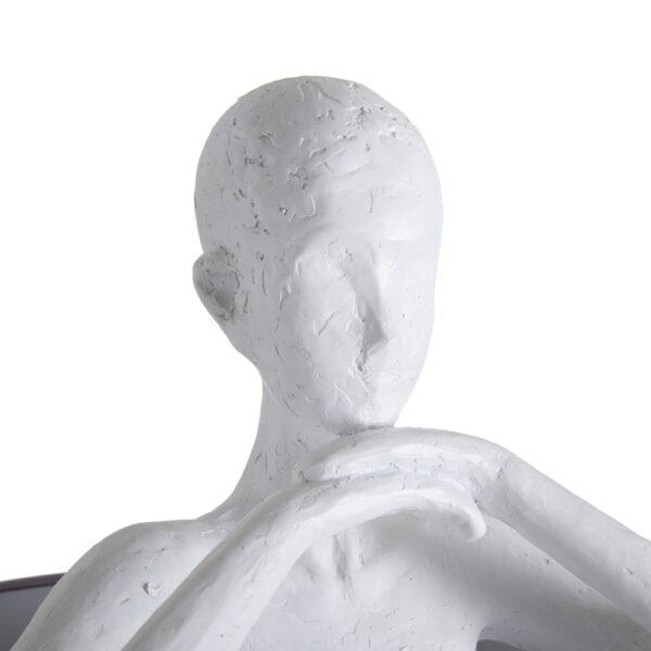 Lámpara de pie hombre blanco-gris, 41x41x142 cm
