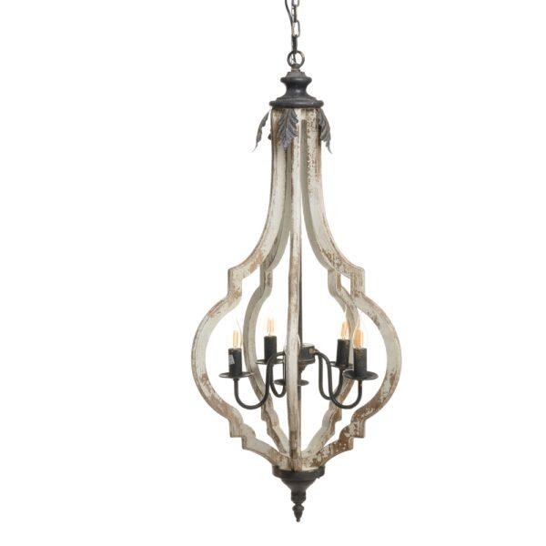 Lámpara de techo blanco rozado, 46x44x105 cm