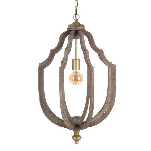 Lámpara de techo natural oro, 45x45x70 cm