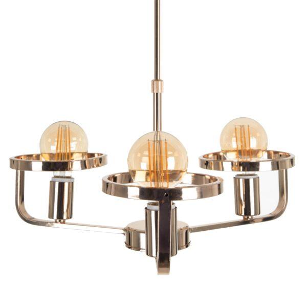 Lámpara de techo oro metal-tejido, 47x42x42 cm