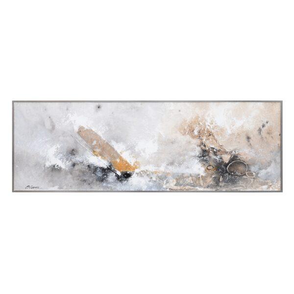 Cuadro pintura abstracto DM decoración, 150x4x50 cm
