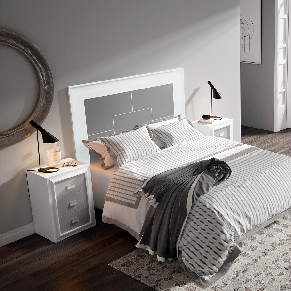 Dormitorio de matrimonio New Mito cabecero y dos mesitas