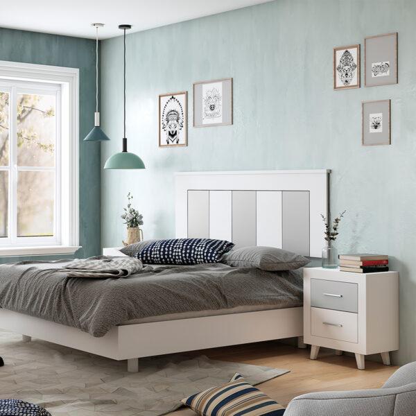 Dormitorio de matrimonio New Promo 01 cabecero y 2 mesitas