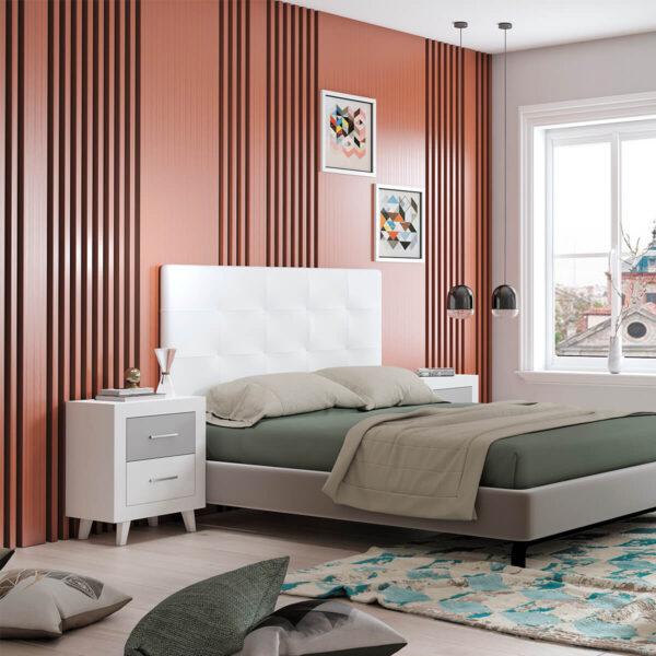 Dormitorio de matrimonio New Promo 02 cabecero y 2 mesitas