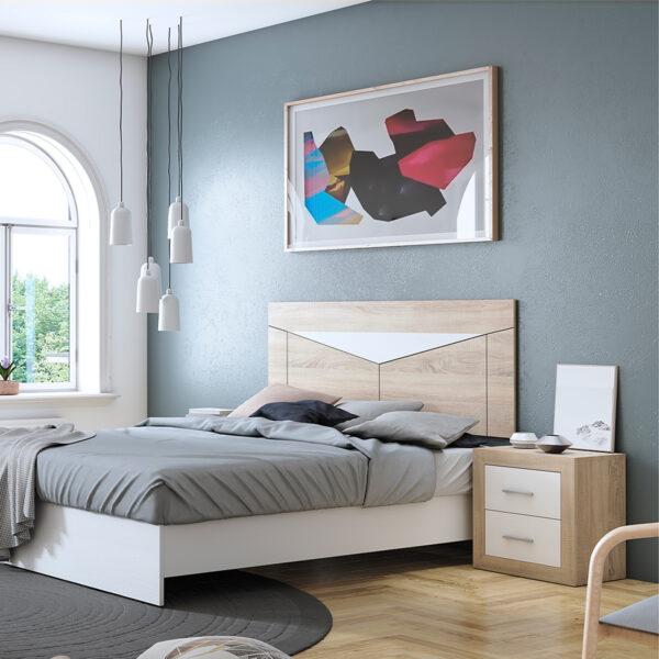 Dormitorio de matrimonio New Promo 03 cabecero y 2 mesitas