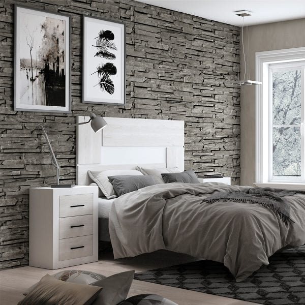 Dormitorio de matrimonio New Promo 04 cabecero y 2 mesitas