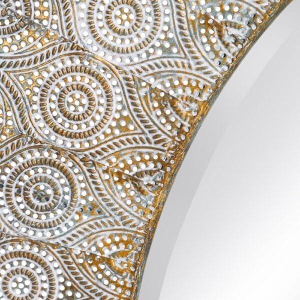 Espejo oro envejecido metal-cristal