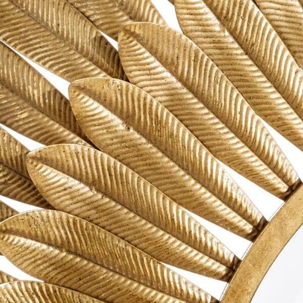 Espejo redondo mate oro metal-cristal