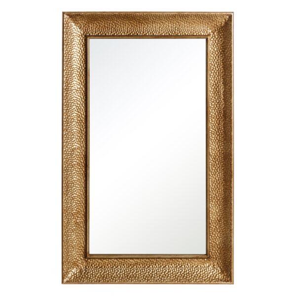 Espejo rectangular oro metal-cristal