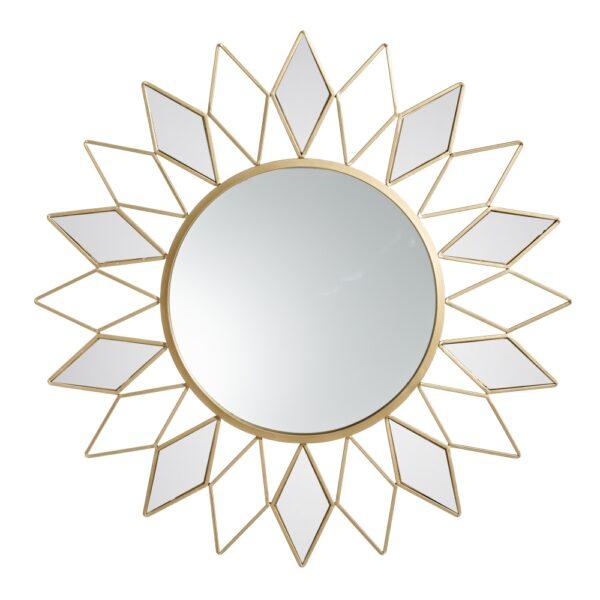 Espejo oro metal-cristal