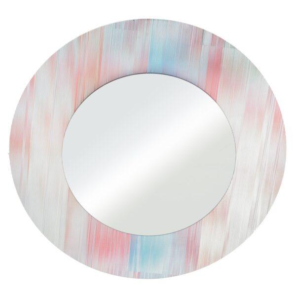 Espejo redondo rojo-azul cristal