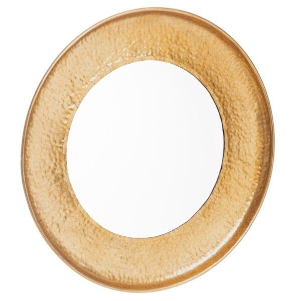 Espejo redondo oro metal-cristal