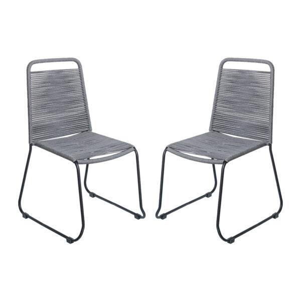 Juego de 2 sillas con brazos Antea cuerdo