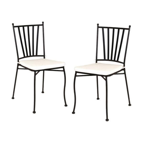 Juego de 2 sillas con brazos forja Helena