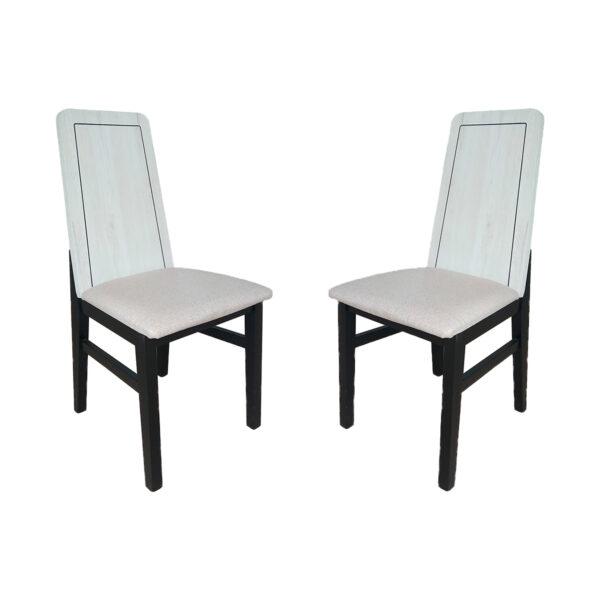Juego de 2 sillas mod 1 tejido madera artic negro