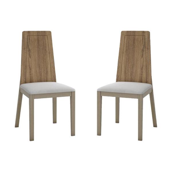 Juego de 2 sillas mod 1 tejido madera cambrian
