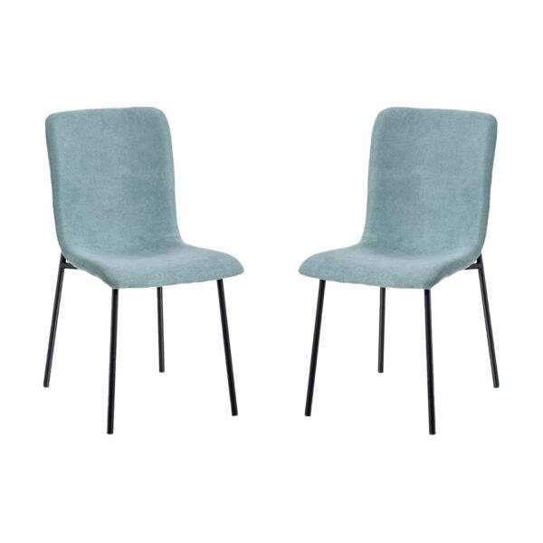 Juego de 2 sillas tejido-metal verde