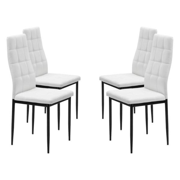 Juego de 4 sillas Maika blanco 3