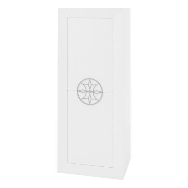 Bodeguero 1 puerta Viena Nieve tirador roseta plata